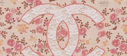 バラ柄のシャネル iPhone5壁紙