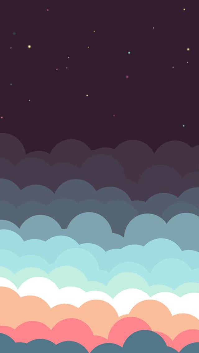 カラフルな雲 iPhone5壁紙