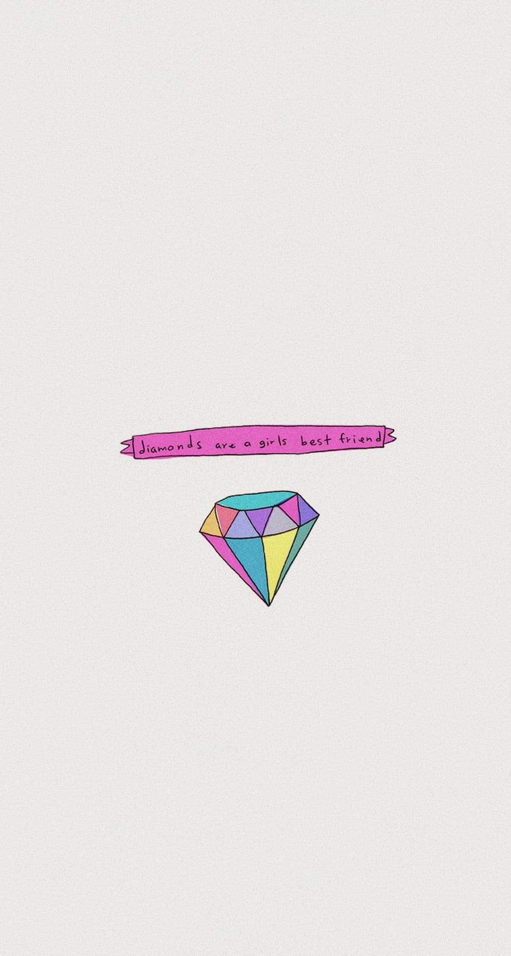 ポップなダイヤモンド iPhone6 Plus壁紙