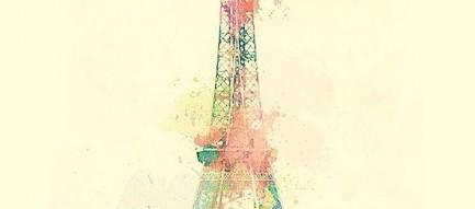パステル調のエッフェル塔 iPhone6壁紙