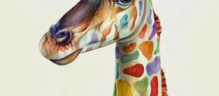 キリンのイラスト iPhone6 Plus壁紙