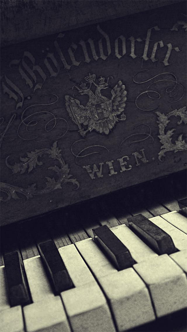 クラシックなピアノ iPhone5壁紙