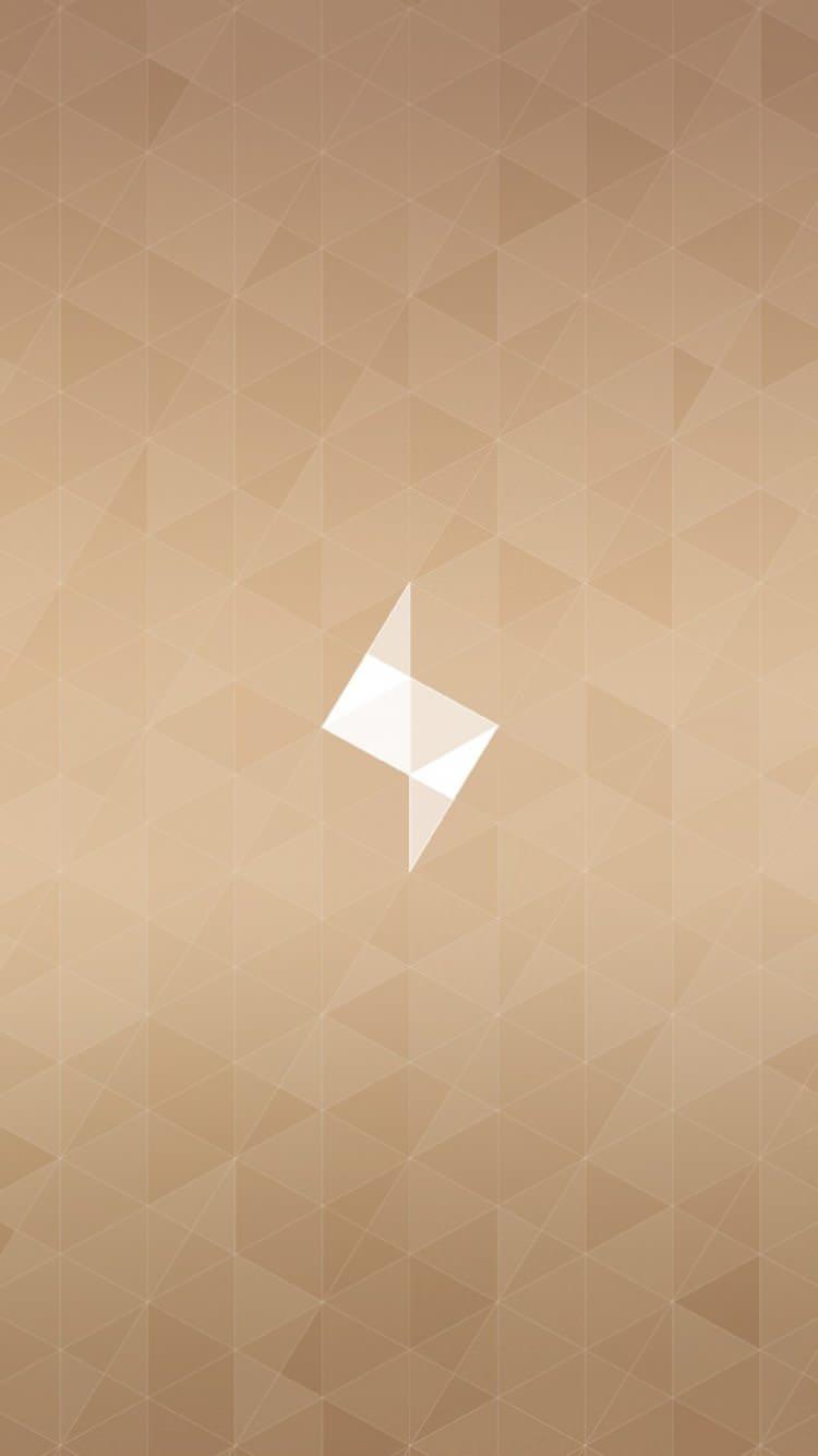 ミニマルトライアングル iPhone6 壁紙