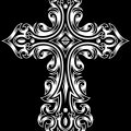 黒の十字架 iPhone6 Plus壁紙