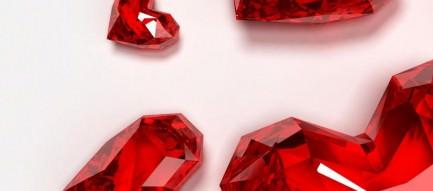 赤いガラスのハート iPhone6 Plus壁紙