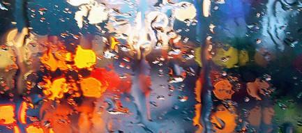 濡れたガラス面 iPhone6 壁紙