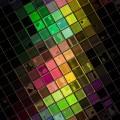 光沢のあるカラフルなタイル iPhone6 Plus壁紙