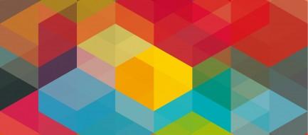 カラフルな四角 Android壁紙