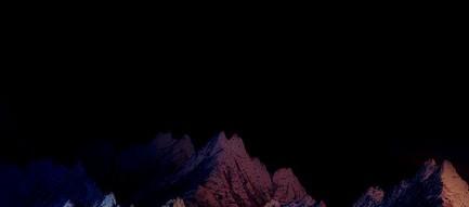 色のついた山 iPhone6 壁紙