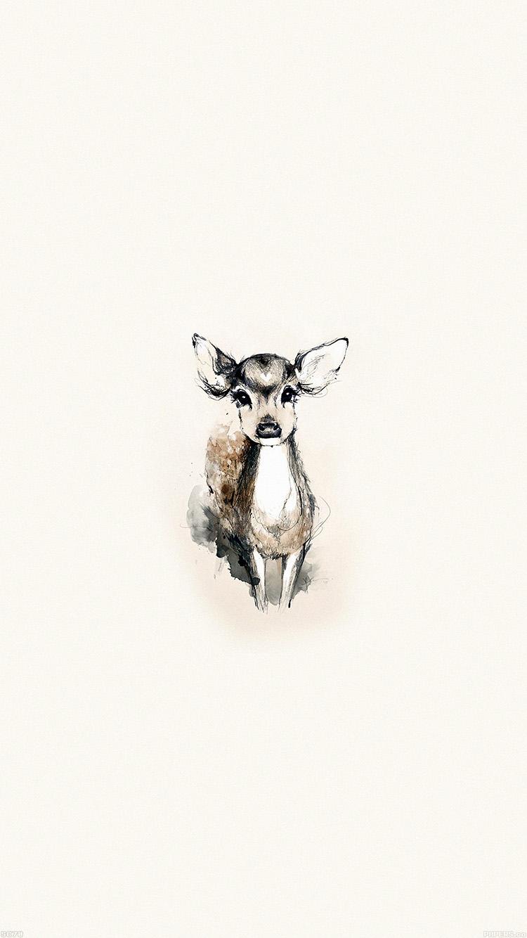 かわいいバンビ iPhone6壁紙