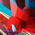 ポリゴンのスパイダーマン iPhone6壁紙