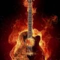 燃えるギター iPhone6壁紙