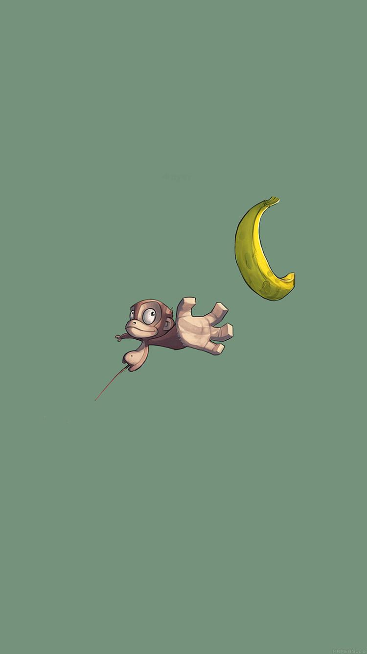 猿とバナナ iPhone6壁紙