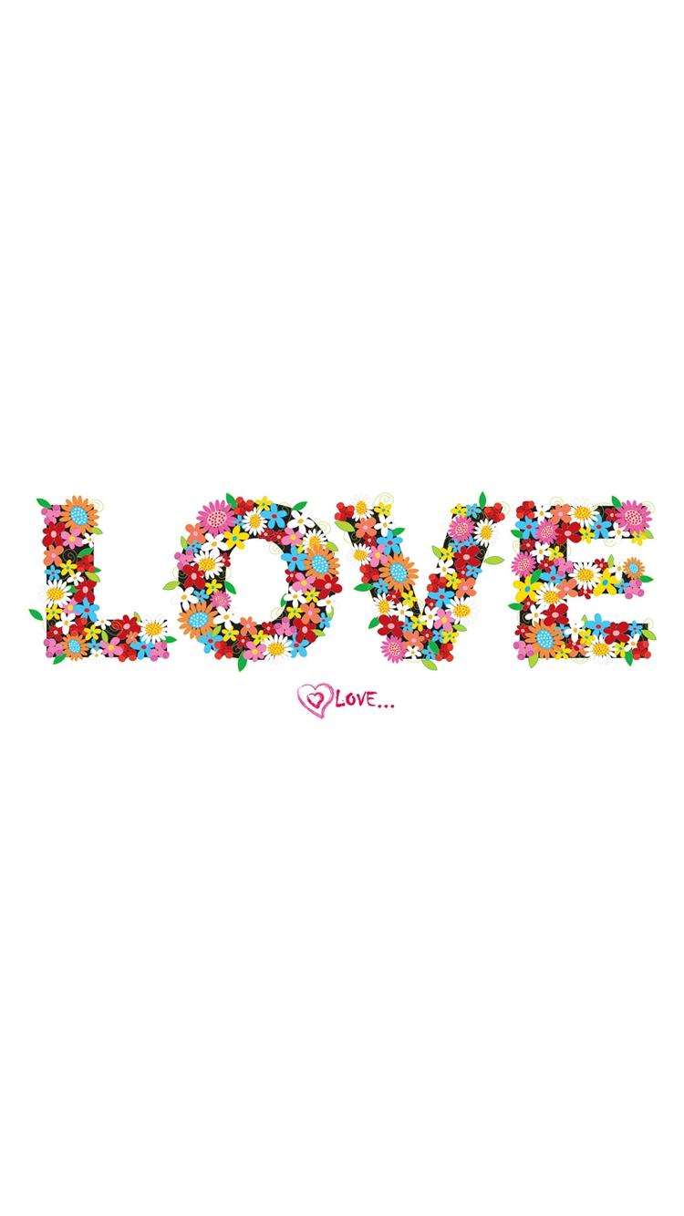 LOVE タイポグラフィ iPhone6壁紙