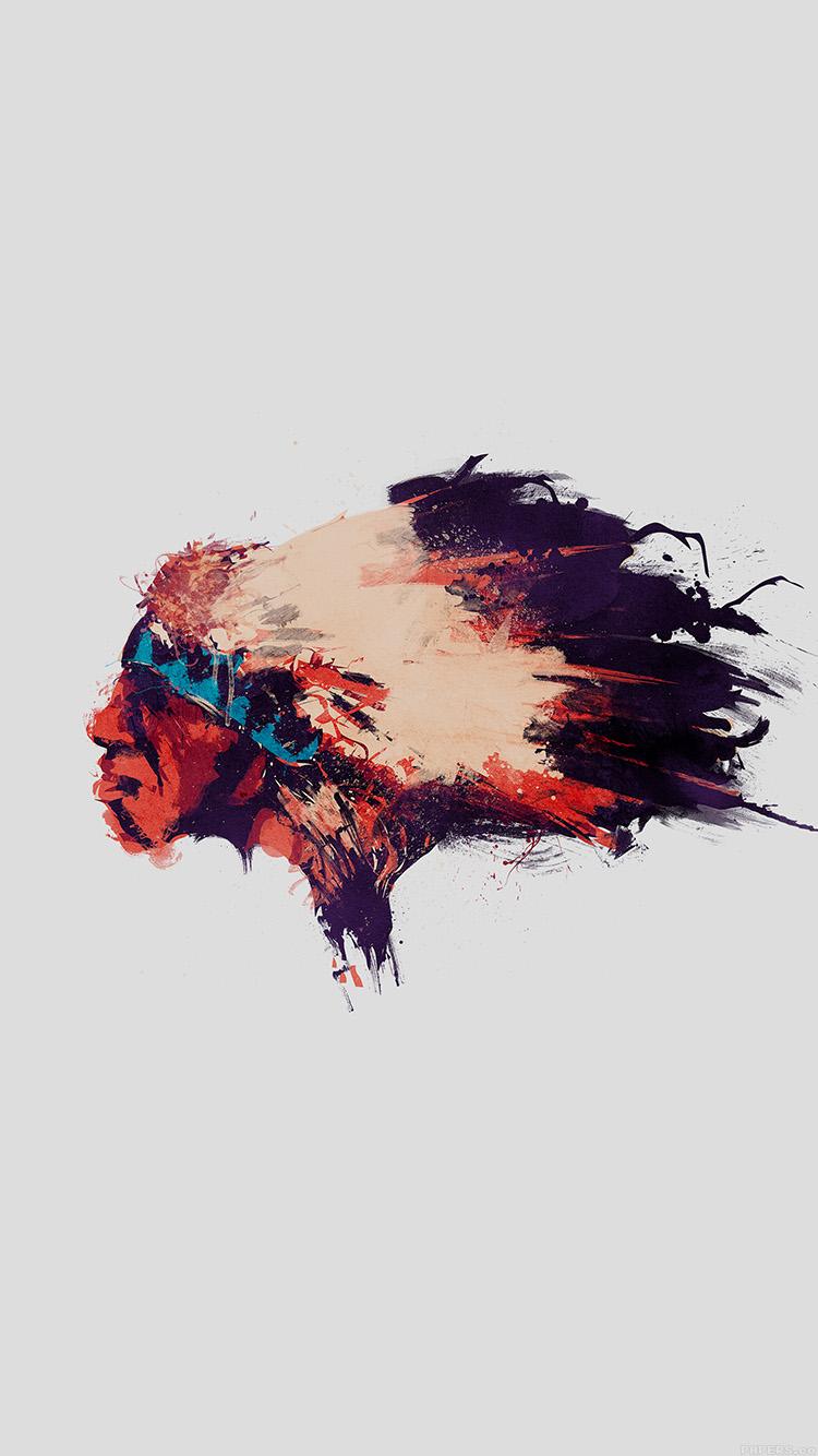 かっこいいインディアンのアート iPhone6壁紙