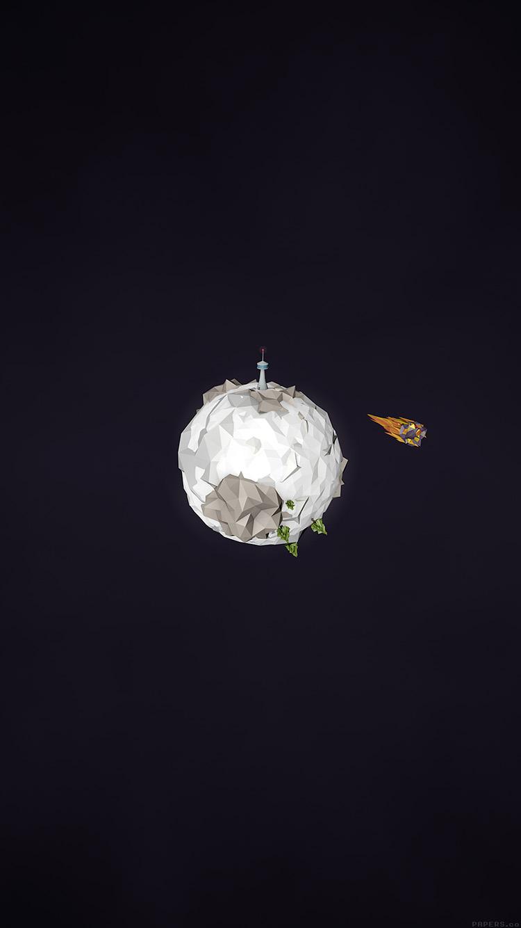 ミニマルなロケットと星 iPhone6壁紙