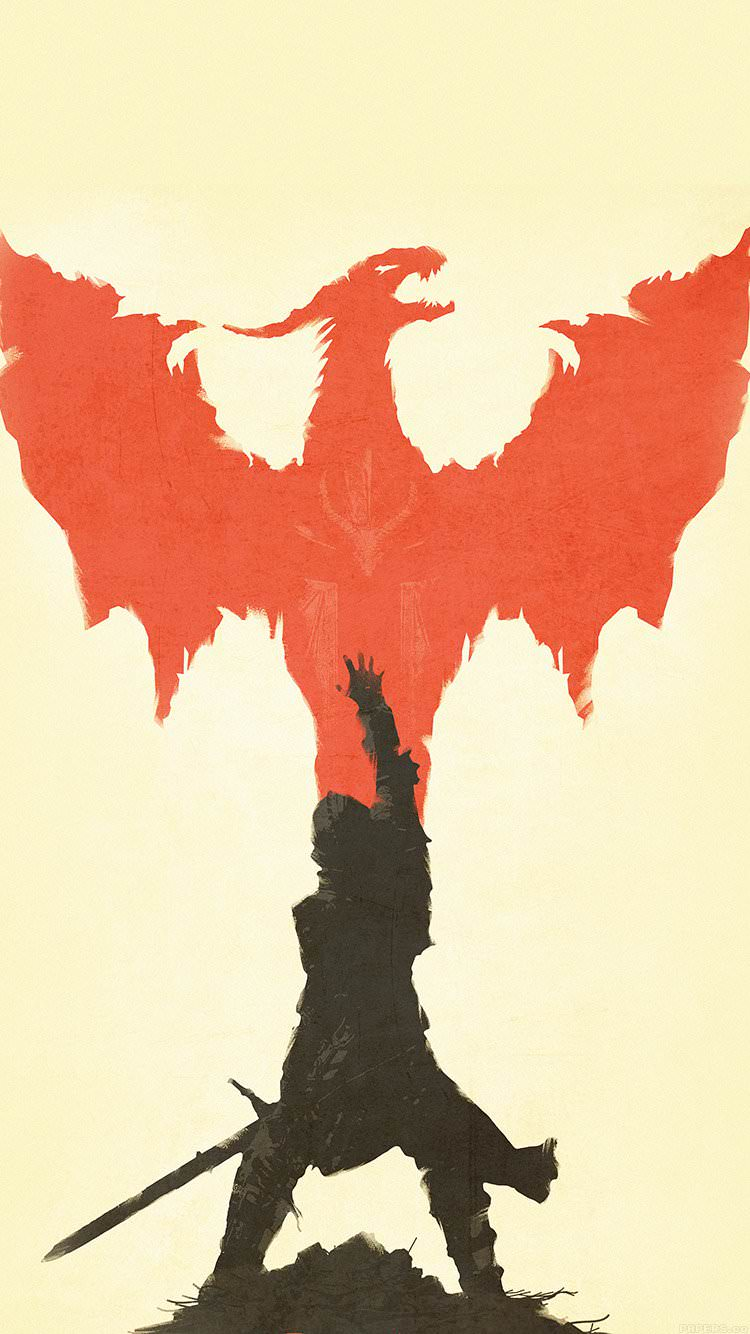ドラゴンと騎士 iPhone6 壁紙