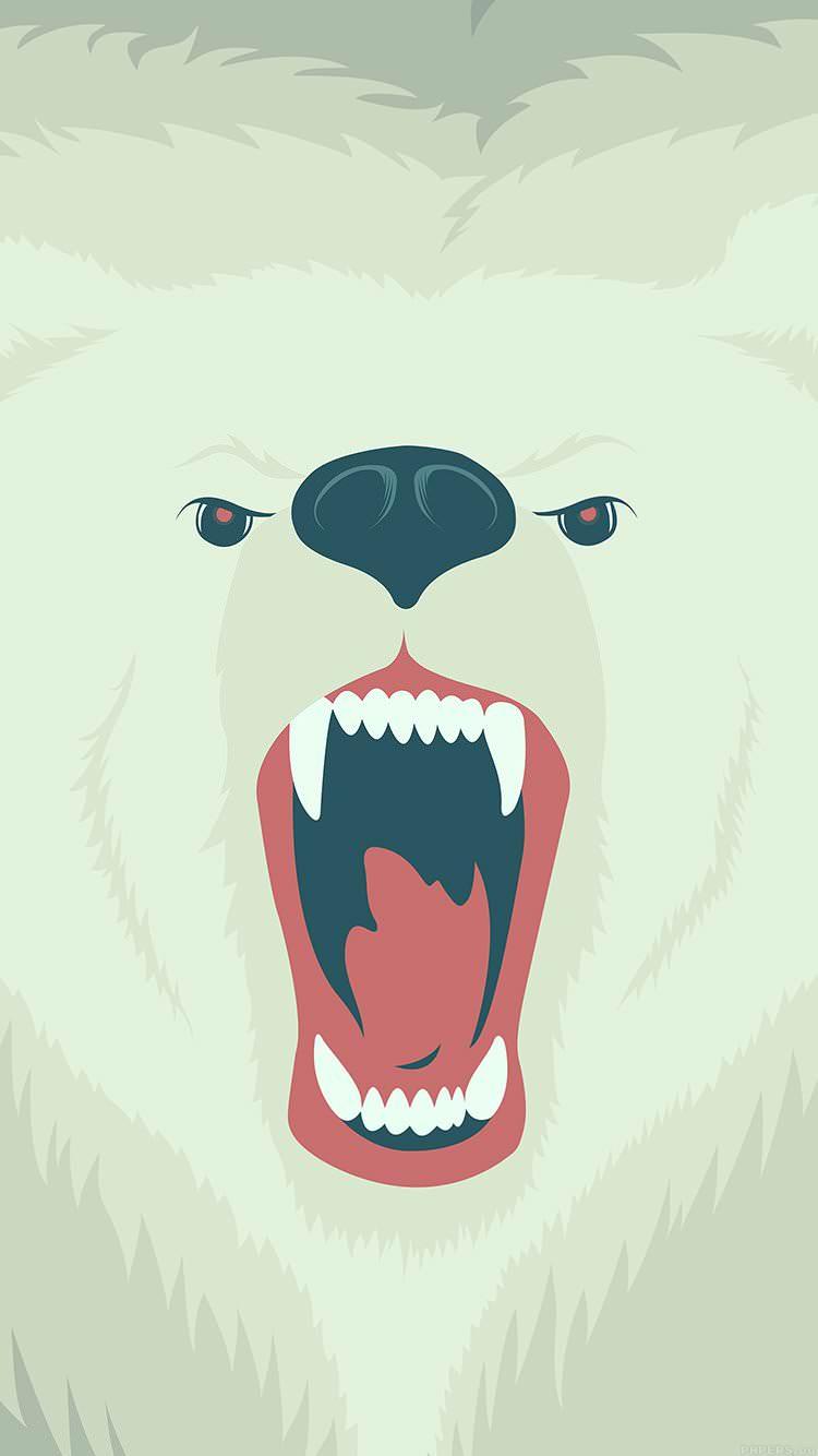 白熊の咆哮 iPhone6 壁紙