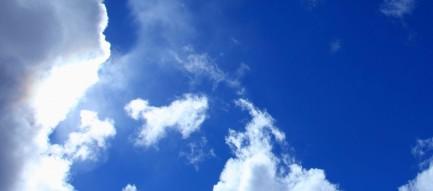 見上げた青空 Android壁紙