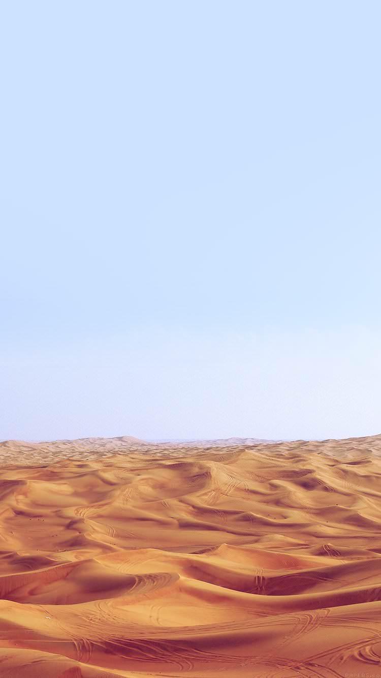 砂丘と空 iPhone6 壁紙