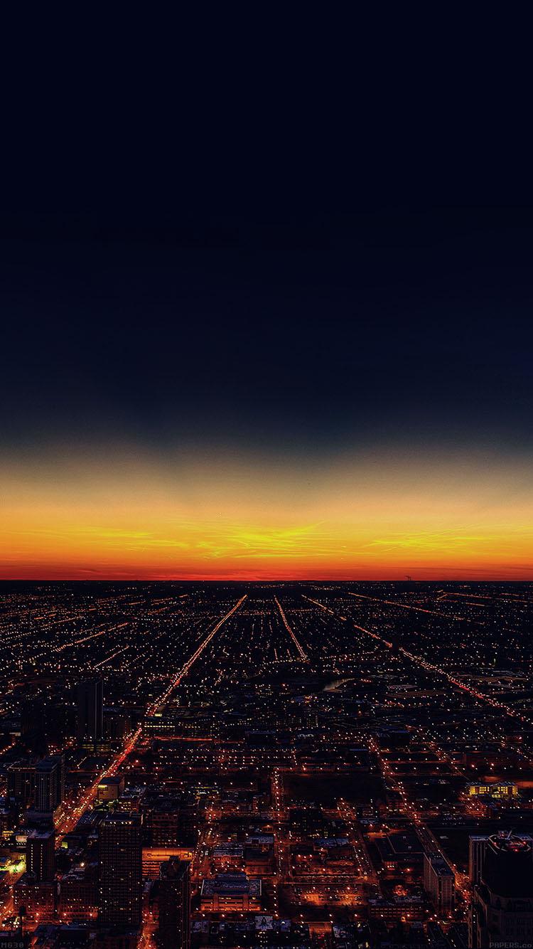 綺麗な夜景 iPhone6壁紙