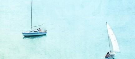 2隻のヨット iPhone6 壁紙