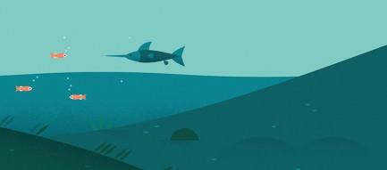 深海のイラスト iPhone6 壁紙