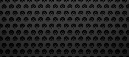 穴の開いた黒のメタリックなiPhone6壁紙