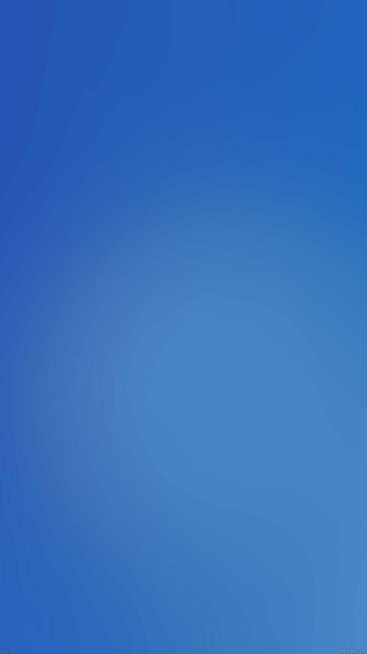 シンプルな青のグラデーション iPhone6壁紙