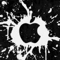 白いペンキで描いたアップルロゴ iPhone6壁紙