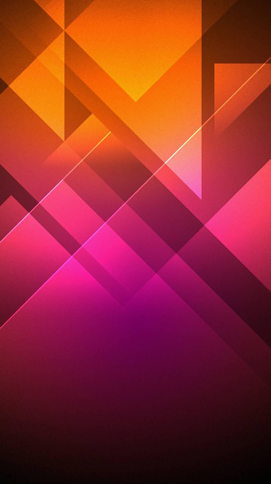 オレンジとピンクのグラデ iPhone6壁紙