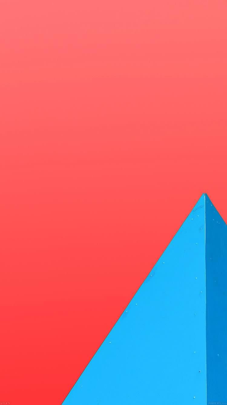 ビビッドピンク・ブルー iPhone6 壁紙