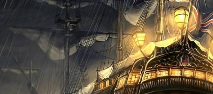 大海原を行く遊覧船 iPhone6壁紙