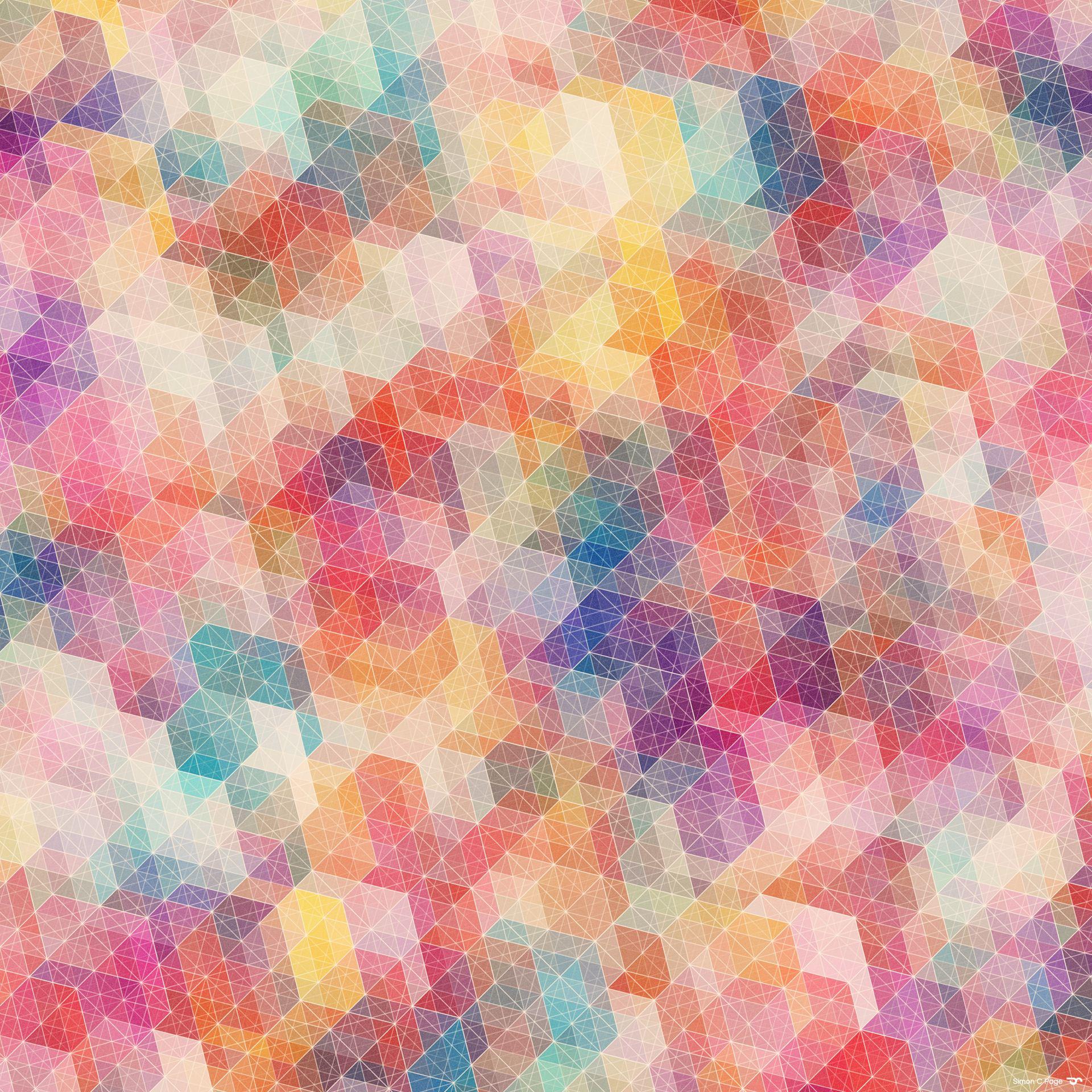 カラフルなパターン Android壁紙