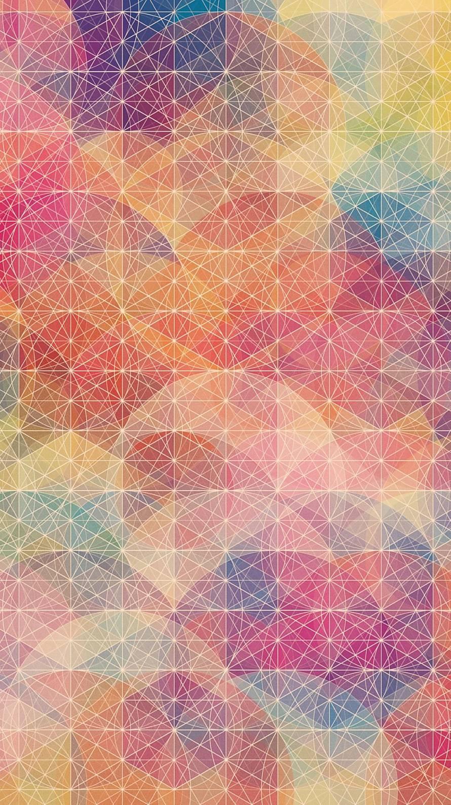 カラフルな楕円の集まり iPhone6壁紙