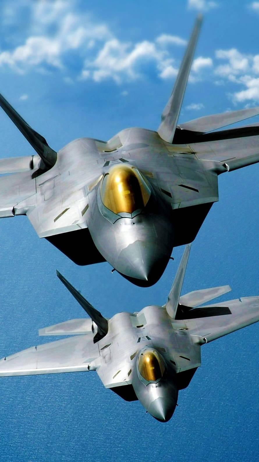 2機の戦闘機 iPhone6壁紙