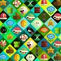 かわいいマリオのアイコン iPhone6壁紙