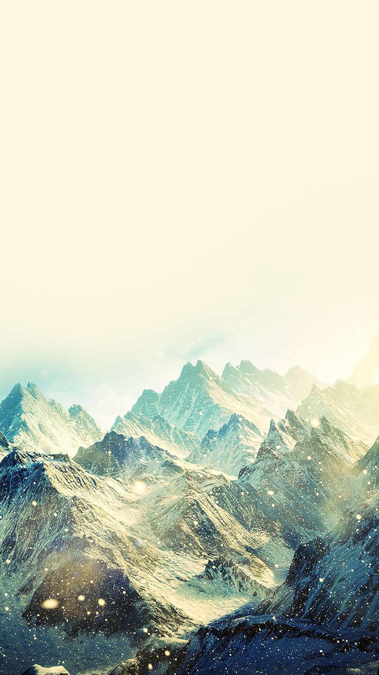 雪降る風景 iPhone6壁紙