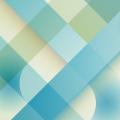 ポップなブルーの格子 iPhone6壁紙