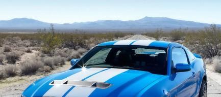 かっこいい青のレーシングカー iPhone6壁紙