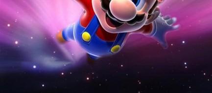 宇宙を飛ぶマリオ iPhone6壁紙