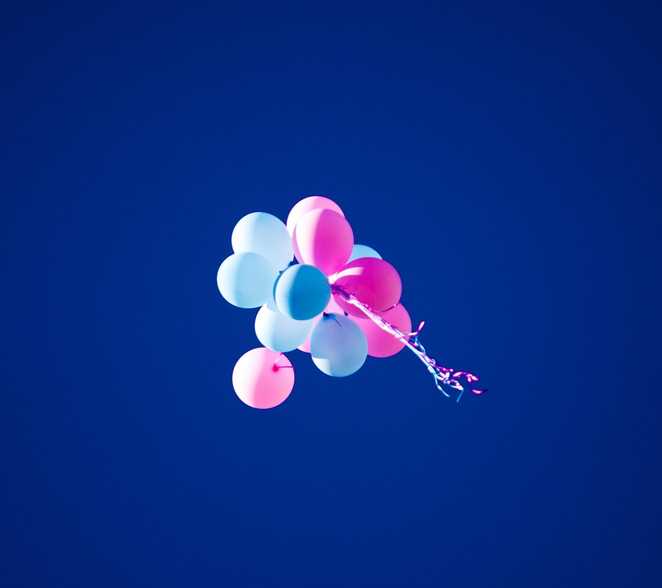 青空に飛ぶ風船 Android壁紙