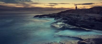灯台と海 Android壁紙