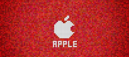 赤のドットアップル Android壁紙