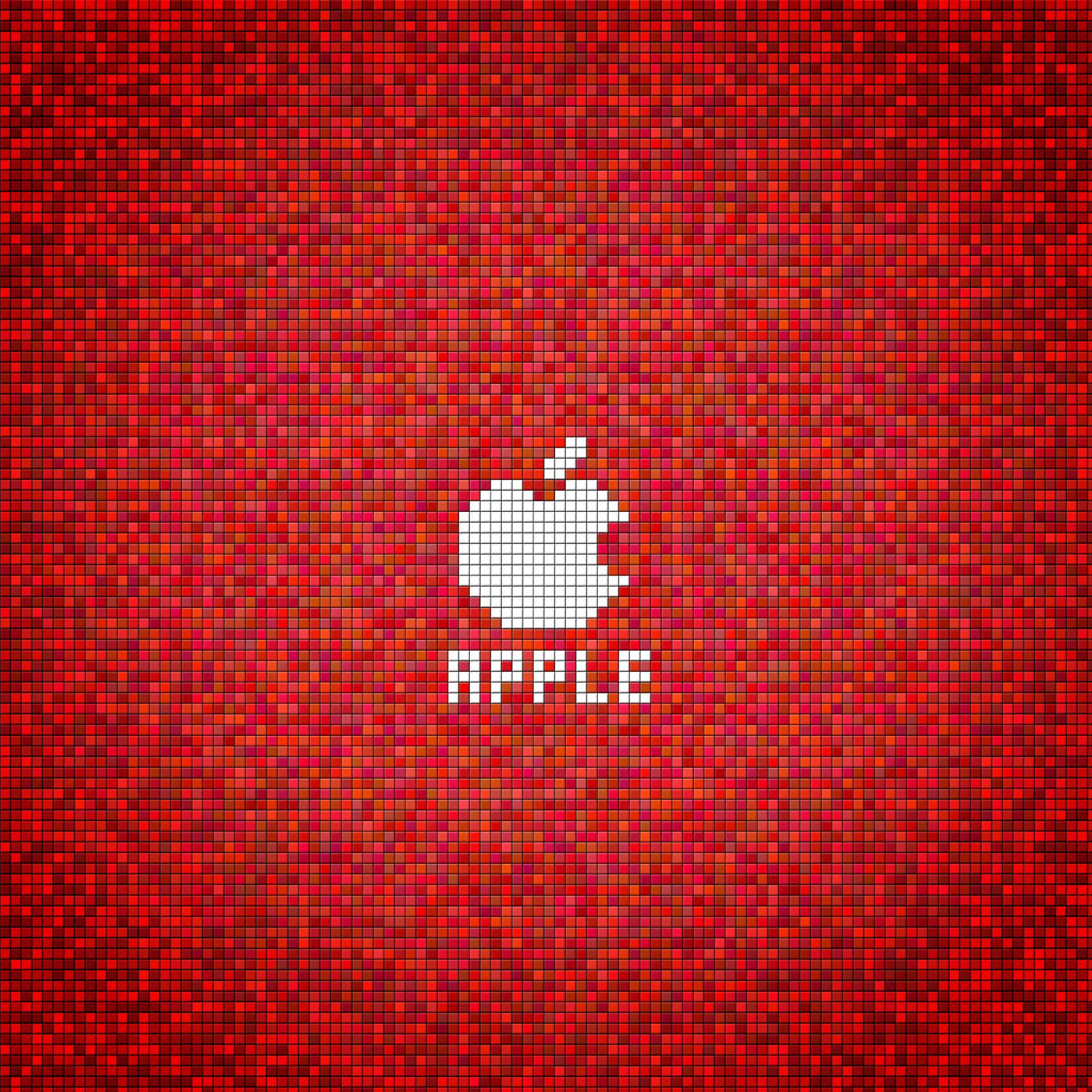赤のドットアップル Android壁紙 Wallpaperbox