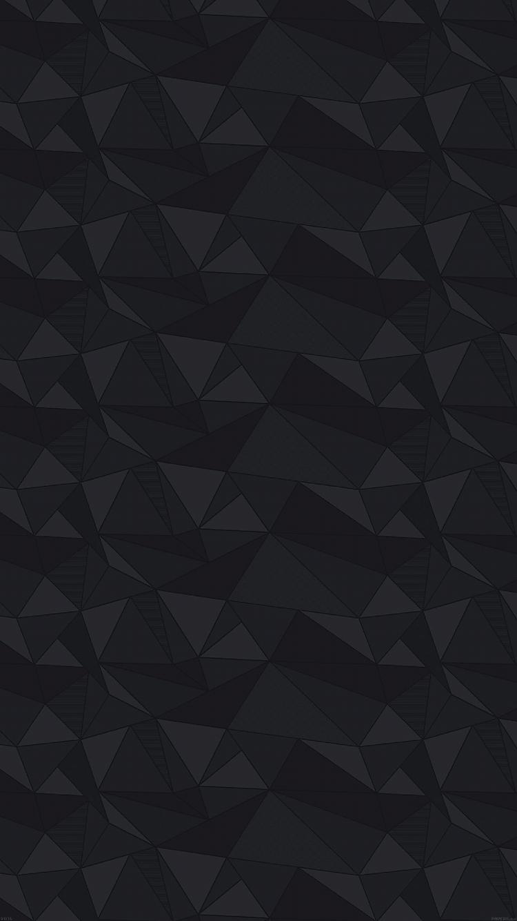 かっこいい黒のポリゴン Iphone6壁紙 Wallpaperbox