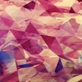 かっこいい赤いポリゴン iPhone6壁紙
