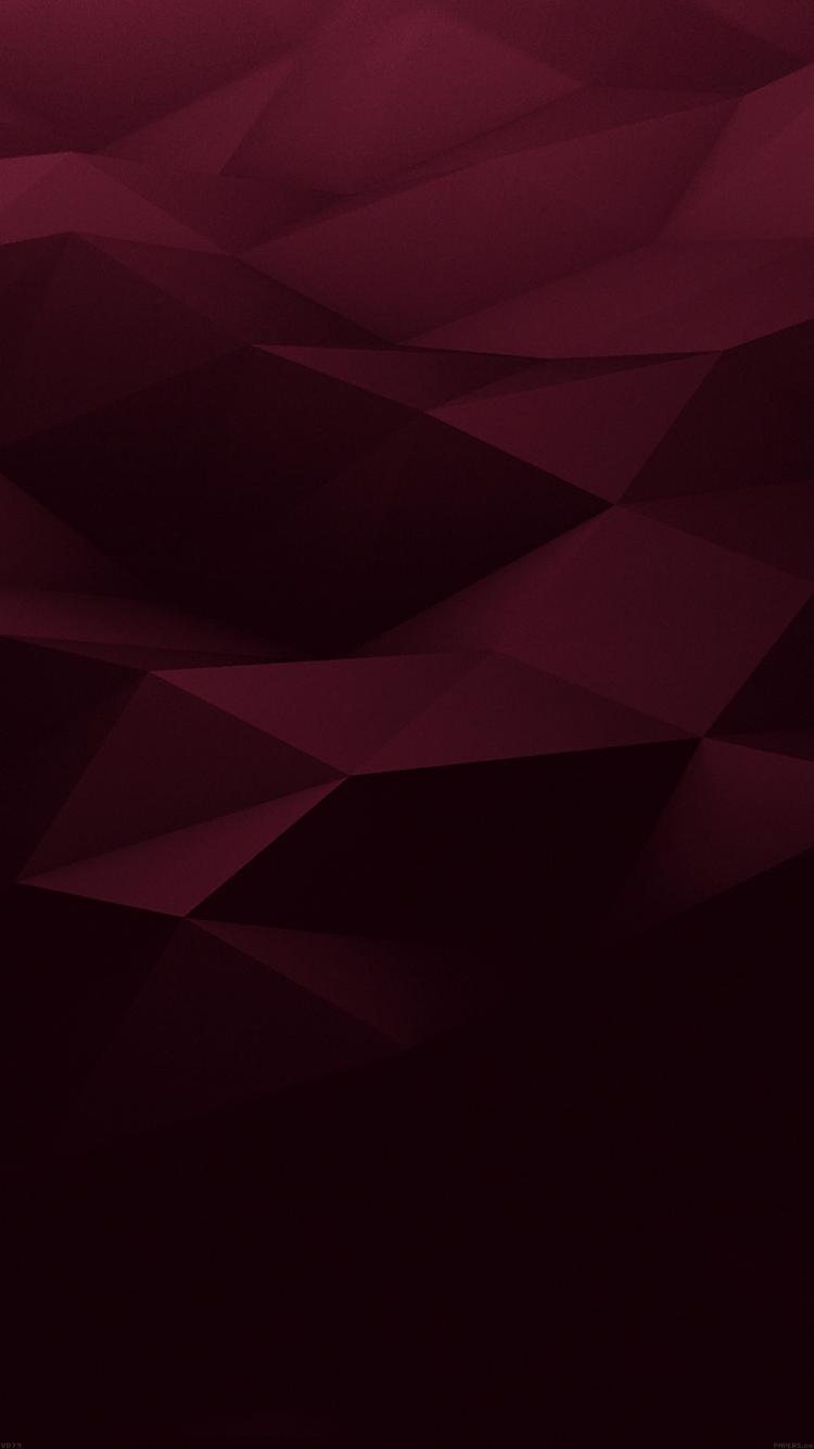 ワインレッドのポリゴン iPhone6壁紙