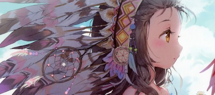インディアンの少女 iPhone6壁紙