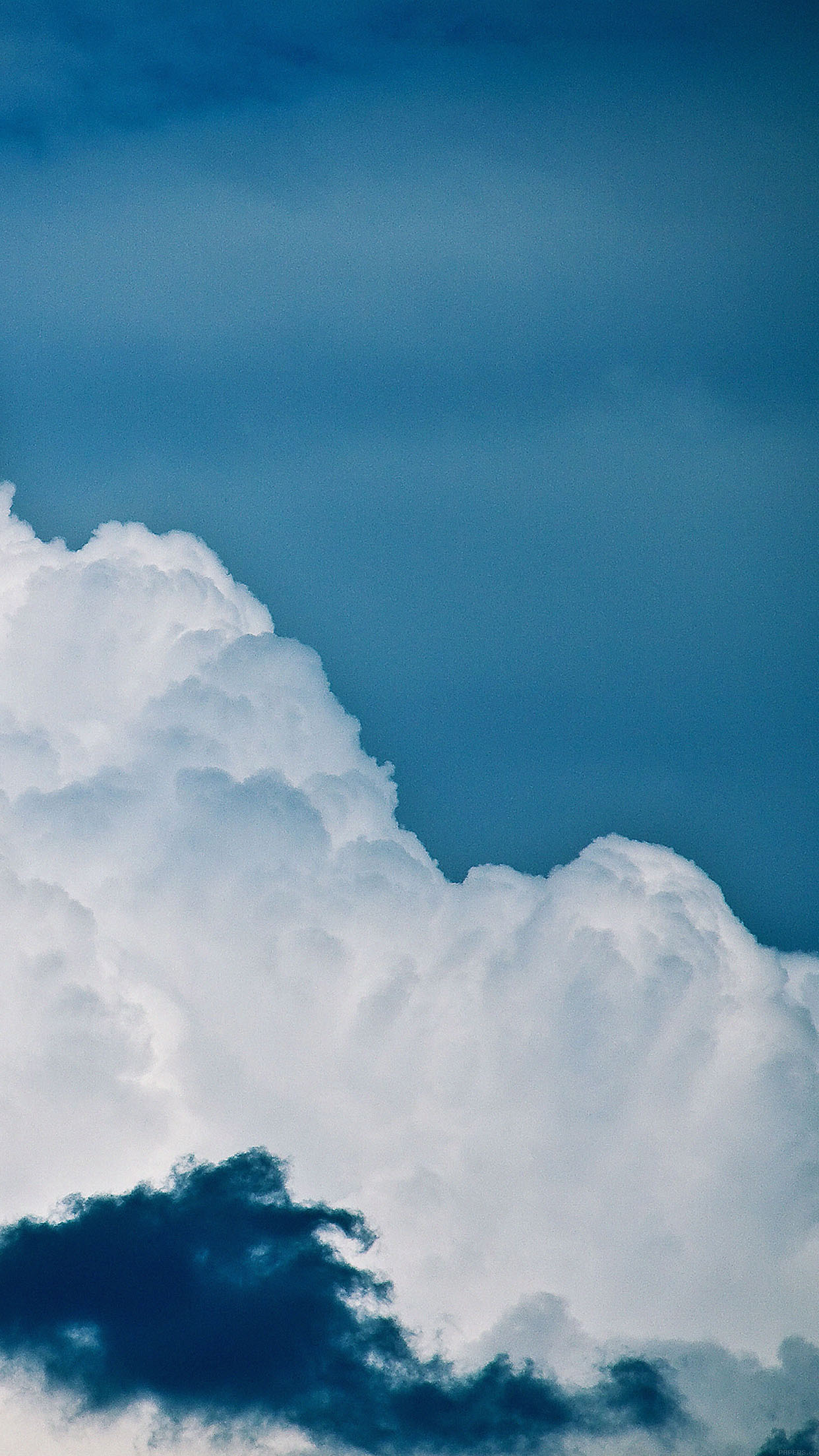 真っ白な雲 Iphone6壁紙 Wallpaperbox